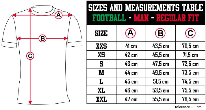 sizes and measurements   FOOTBALL   MAN   SLIM FIT EN Zero9Sport