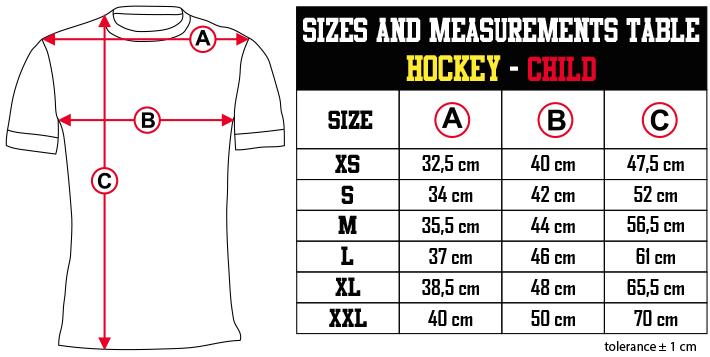 sizes and measurements   HOCKEY   CHILD EN Zero9Sport