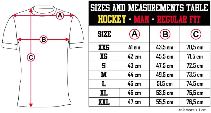 sizes and measurements   HOCKEY   MAN   REGULAR FIT EN Zero9Sport