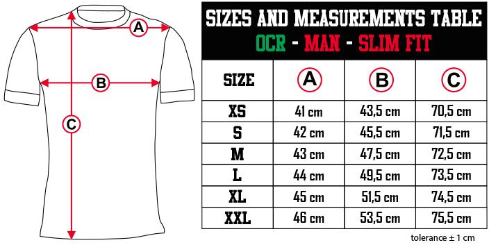 sizes and measurements   OCR   MAN   SLIM FIT EN Zero9Sport