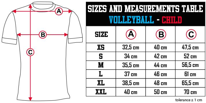 sizes and measurements   VOLLEYBALL   CHILD EN Zero9Sport