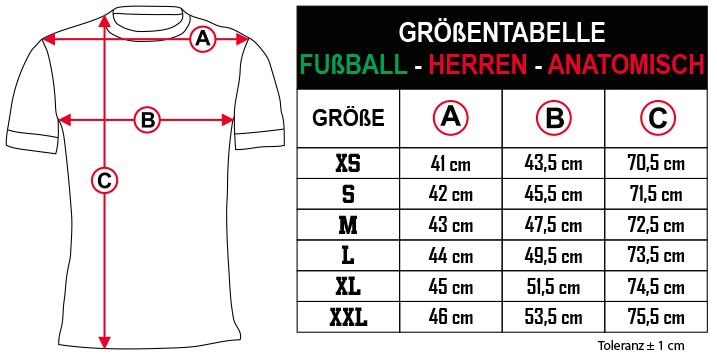 gr    entabelle   FU  BALL   HERREN   ANATOMISCH DE Zero9Sport