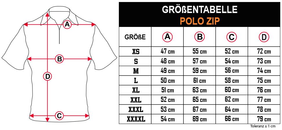 gr    entabelle   POLO ZIP DE Zero9Sport